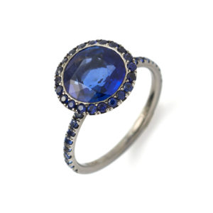 burmese blue sapphire ring