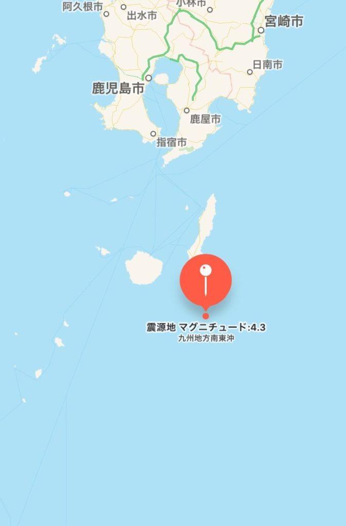 九州地方南東沖