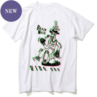 BRAIN WASH Tシャツ [白]